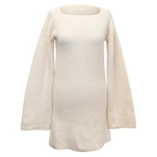 See By Chloe Cream Knit Bell Sleeve Dress