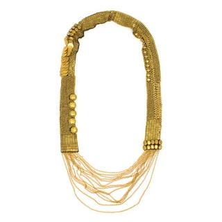 Fiona Paxton Gold Beaded Long Necklace