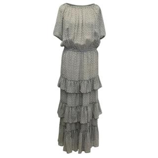 Isabel Marant Grey & Black Maxi Dress
