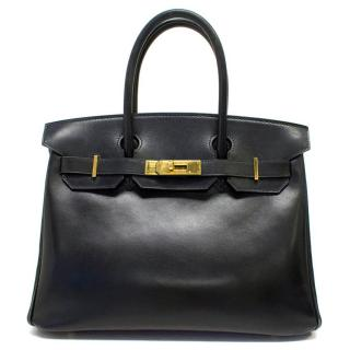 Hermes 30 cm Black Birkin with Gold Hardware