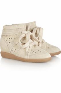 Isabel Marant Womens Cream Bobby Wedge Sneakers
