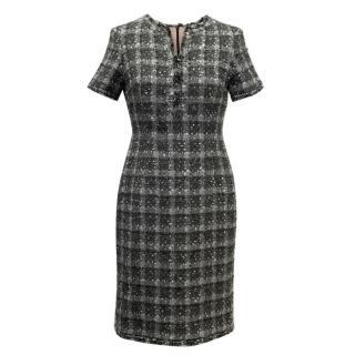 Chanel Grey Tweed Dress