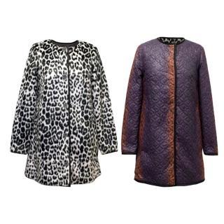 Manoush Black & White Faux Fur Coat