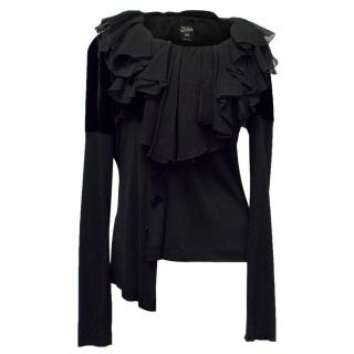 Jean Paul Gaultier Femme Black Long Sleeve Blouse