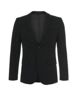 BOSS Men's Black Slim-fit Cotton-blend Jacket With Leather Detailing:
