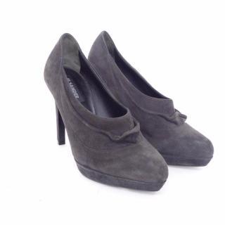 JIL SANDER Grey Suede Ankle Boots