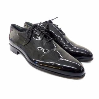 BALLY lace-up Oxford patent black leather shoes