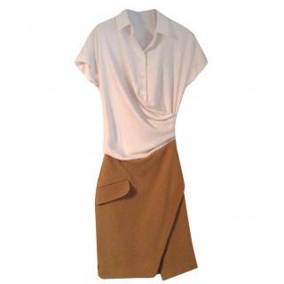 Carven cream & camel dress.