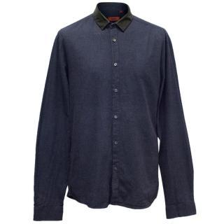 Hugo Boss Navy Button Up Shirt