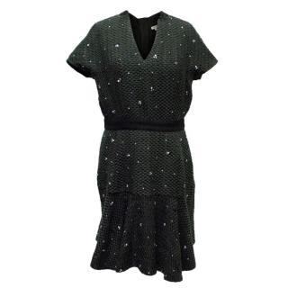 Manoush Green & Black Dress with Embellshments
