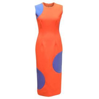 Roksanda Orange & Blue Pencil Dress