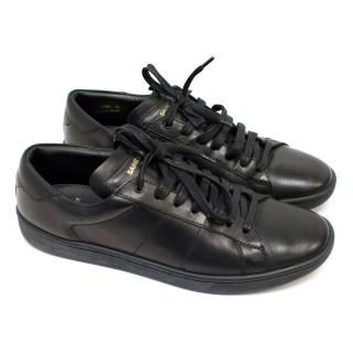 Saint Laurent Black Court Classic Trainers