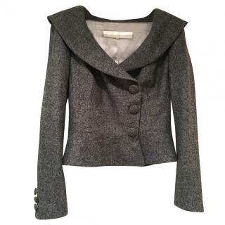 Catherine Walker grey tweed fitted jacket