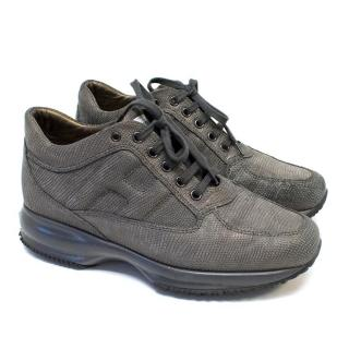 Hogan Interactive Textured Leather Trainers