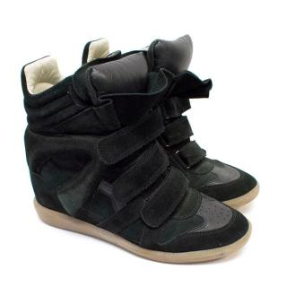 Isabel Marant Black Beckett High Top Sneakers