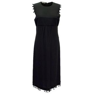 Prada Black Sleeveless Dress with Pom Poms & Sequins