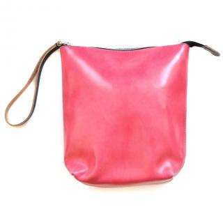Marni pink leather pouch bag