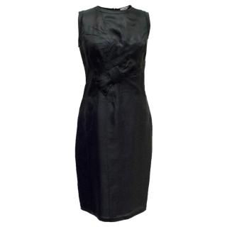 Prada Black Sleeveless Silk Dress
