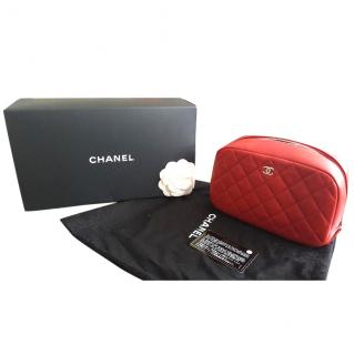 Chanel Quilted Makeup Bag