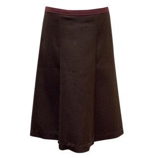 Prada Dark Brown Skirt