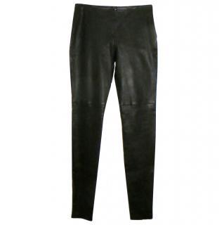 Maison Martin Margiela super slim long leather leggings