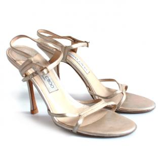 Jimmy Choo Gold/silver Sandals