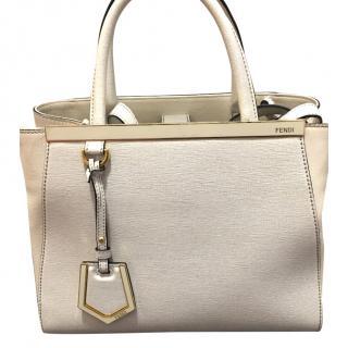 Fendi petite 2 jours leather handbag