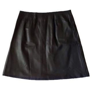 NEW Alexander McQueen McQ lamb leather skirt