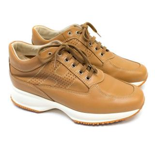 Tan Leather Interactive Trainers