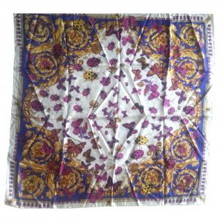 Ladybird and Beatle print Versace Silk Scarf