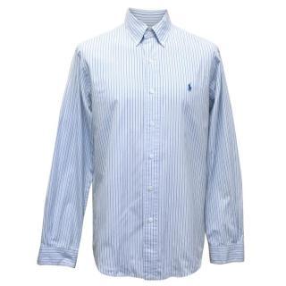 Polo By Ralph Lauren Men's Blue Striped Button Up