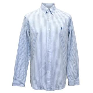 Polo By Ralph Lauren Men's Blue Striped Button Up