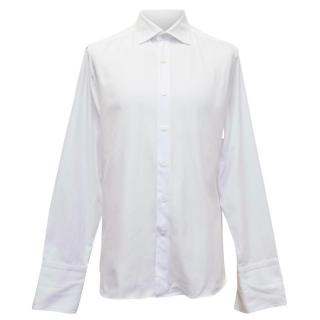 Canali Regular Fit Double Cuff White Shirt