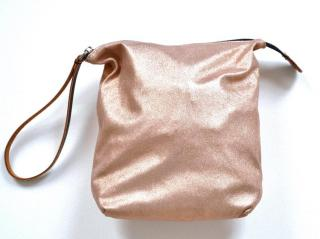 Marni metallic leather pouch bag