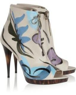 Burberry Prorsum hand painted leather boots