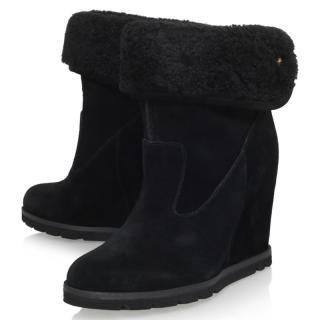 Ugg Black Wedge Heel Boots
