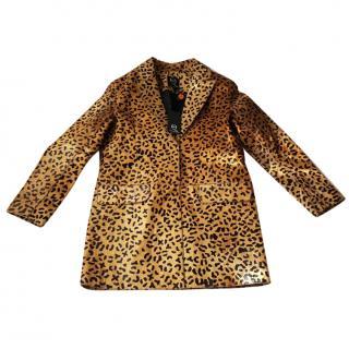 NEW Alexander McQueen McQ Animal Spot Leather Coat