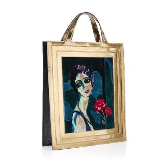 Charlotte Olympia Portrait Tote In Gold