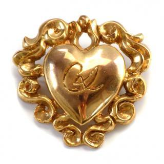 Christian Lacroix Vintage Heart Shape Baroque Style Brooch