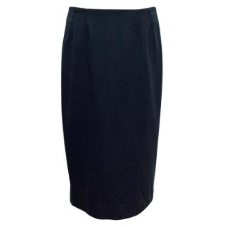 A-K-R-I-S Punto Navy Pencil Skirt