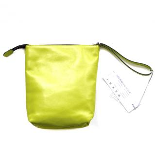 Marni Acid Green Leather Pouch Bag