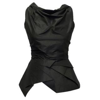 RM Roland Mouret Black Sleeveless Top