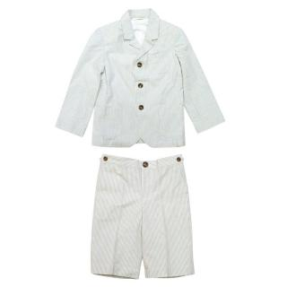 Marie Chantal Boys Striped Blazer and Shorts Set