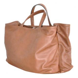 Marni brown leather shopper bag