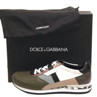 Dolce & Gabbana Mens Leather Trainers 2016