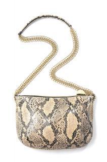 Stella McCartney Bailey Boo Python-Embossed Cross-Body Bag