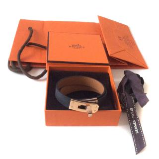 Hermes Kelly double tour bracelet Epsom leather rose gold