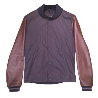 Gucci College Blouson Leather Jacket