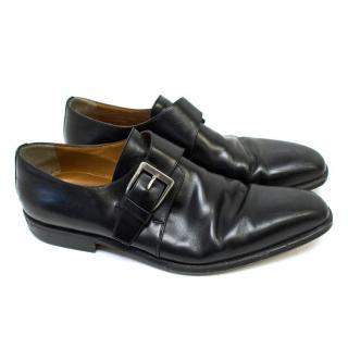 Stemar Black Single Monkstrap Dress Shoes