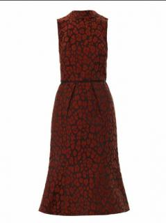 Camilla and Marc Burgundy Jacquard Dress